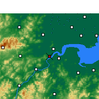 Nearby Forecast Locations - Ханчжоу - карта