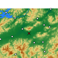 Nearby Forecast Locations - Цзиньхуа - карта