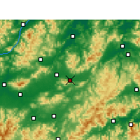 Nearby Forecast Locations - Dongyang - карта
