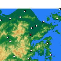 Nearby Forecast Locations - Fenghua - карта