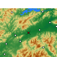 Nearby Forecast Locations - Цюйчжоу - карта