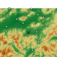 Nearby Forecast Locations - Wuyi/ZHJ - карта