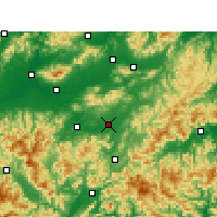 Nearby Forecast Locations - Yongkang - карта