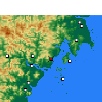 Nearby Forecast Locations - Yueqing - карта