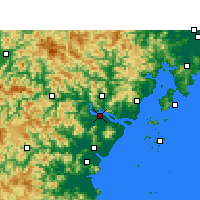 Nearby Forecast Locations - Вэньчжоу - карта