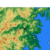 Nearby Forecast Locations - Linhai - карта