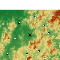 Nearby Forecast Locations - Lichuan - карта