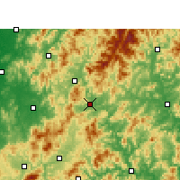 Nearby Forecast Locations - Shaowu - карта