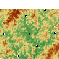 Nearby Forecast Locations - Jianyang - карта