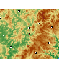 Nearby Forecast Locations - Jian'ou - карта