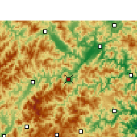 Nearby Forecast Locations - Yunhe - карта