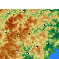 Nearby Forecast Locations - Taishun - карта