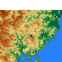 Nearby Forecast Locations - Zherong - карта