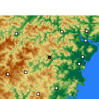 Nearby Forecast Locations - Wencheng - карта