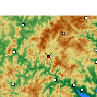 Nearby Forecast Locations - Gutian - карта