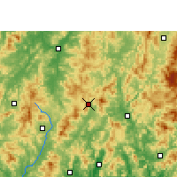 Nearby Forecast Locations - Wuping - карта