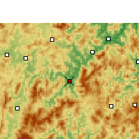 Nearby Forecast Locations - Yong'an - карта