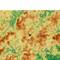 Nearby Forecast Locations - Datian - карта