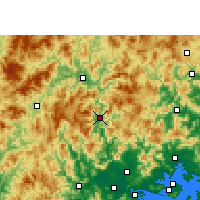 Nearby Forecast Locations - Hua'an - карта