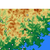 Nearby Forecast Locations - Anxi/ANH - карта