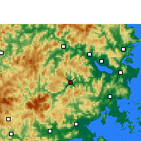 Nearby Forecast Locations - Yongtai - карта