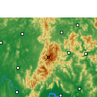Nearby Forecast Locations - Jinxiu - карта