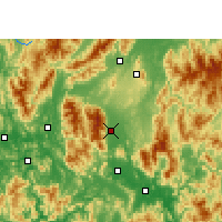 Nearby Forecast Locations - Fuchuan - карта