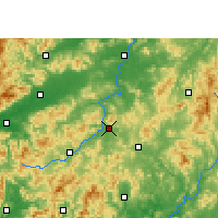 Nearby Forecast Locations - Longnan - карта