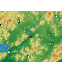 Nearby Forecast Locations - Longchuan - карта
