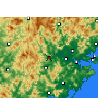 Nearby Forecast Locations - Nanjing/FUJ - карта