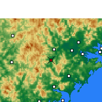 Nearby Forecast Locations - Pinghe - карта