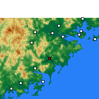 Nearby Forecast Locations - Zhangpu - карта