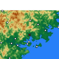 Nearby Forecast Locations - Tong'an - карта