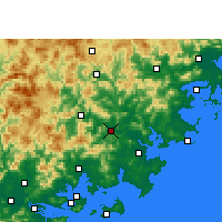 Nearby Forecast Locations - Nan'an - карта