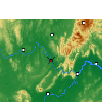 Nearby Forecast Locations - Wuxuan - карта