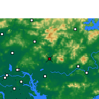 Nearby Forecast Locations - Zengcheng - карта