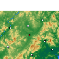 Nearby Forecast Locations - Wuhua - карта