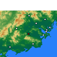 Nearby Forecast Locations - Puning - карта
