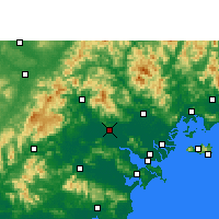 Nearby Forecast Locations - Цзеян - карта