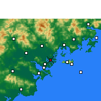 Nearby Forecast Locations - Denghai - карта