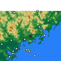 Nearby Forecast Locations - Zhao'an - карта