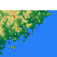 Nearby Forecast Locations - Dongshan - карта