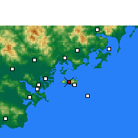 Nearby Forecast Locations - Nan'ao - карта