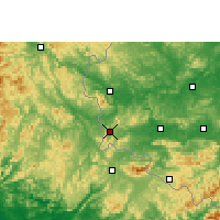 Nearby Forecast Locations - Pingxiang - карта