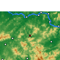 Nearby Forecast Locations - Cenxi - карта