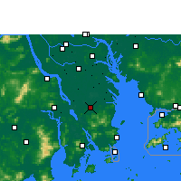 Nearby Forecast Locations - Zhongshan/GUD - карта