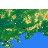 Nearby Forecast Locations - Huidong/GUD - карта