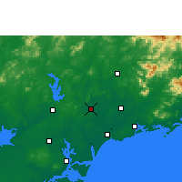 Nearby Forecast Locations - Huazhou - карта