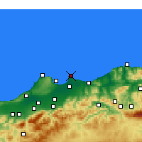 Nearby Forecast Locations - Bordj-El-Bahri - карта