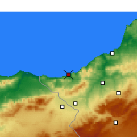 Nearby Forecast Locations - Ghazaouet - карта
